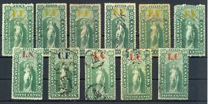 CANADA-11 x REVENUE STAMP - LAW STAMP - FINE - MIXED QUALITY