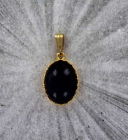 Amethyst gemstone pendant necklace in 14kt rolled gold