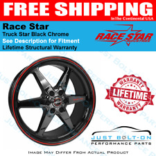 Race Star 93 Truck Star Black Chrome 17x4.5 6x5.50bs 1.75bc 93-745842BC