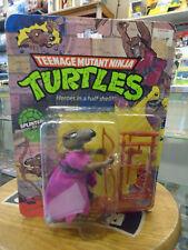 Vintage Teenage Mutant Ninja Turtles Splinter Figure 10 Back 1988 Bandai MOC