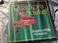 RUZICKOVA SCARLATTI 37 selected Sonatas for Harpsichord solo 3LP EURODISC STEREO