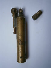 ANTIQUE USED BRASS VINTAGE GERMAN BENZIN GAS LIGHTER - HAND MADE , 1930's