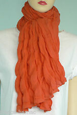 CHECHE uni ORANGE COTON  keffieh,écharpe,foulard homme femme