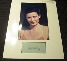 GENE TIERNEY 7x10 Color Photo & 2.5x5 Autograph Signature w/ COA Matted 11x14