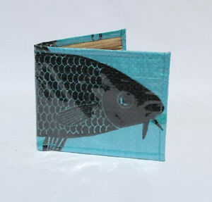 Recycled Fish Feed Super Deluxe Man's Wallet Handmade in Cambodia Fair Trade