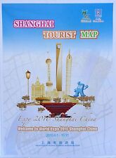 NEW 2010~SHANGHAI TOURIST MAP~Ancient Towns,Rail Transit Map,Tourist Attractions