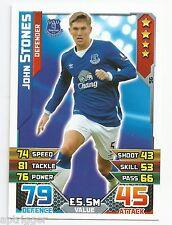 2015 / 2016 EPL Match Attax Base Card (96) John STONES Everton