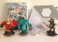 Wii Disney Infinity 1.0 Starter Pack Kids Game Base & 3 Figures