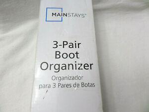 3-Pair Boot Rack Shoe Storage Organizer Standing Holder Shoes Hanger Iron Shelf