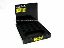 CLIPPER LIGHTER COLLECTORS TRAY BASE DISPLAY HOLDS 12 FULL SIZE WITH CARD METAL