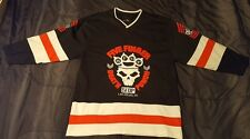 Five Finger Death Punch Stitched Hockey Jersey Bone Skull L FFDP 5FDP Las Vegas