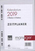bsb Manager A5 2019 Kalender Einlage 1Woche/2Seiten multifit Deutsch 02-0048