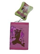 """Scooby-Doo Tri-Fold Wallet 4.5"""" x 3.25"""" ( LIGHT PINK ) BRAND NEW WITH TAGS"""