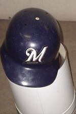 MILWAUKEE BREWERS Lenny Harris game-worn 2002 batting helmet MLB #1 pinch hitter