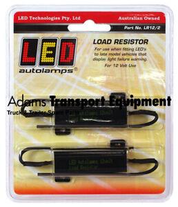 LED Autolamps LR12/2 12 Volt Load Resistors 2 Pack for Tail Light Indicators