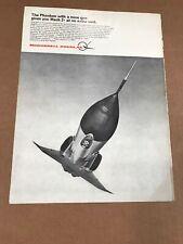 McDonnell Douglas F-4 Fighter Jet Mach 2 Print AD 1970