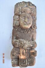"Sale! Pre Columbian Mayan Crypt Limestone Figure 5"" Prov"