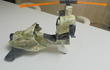 Action Man Gyro Copter Painted in Army Colors with search light