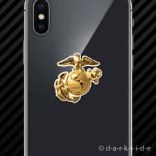 (2x) USMC EGA Gold Cell Phone Sticker Mobile eagle globe anchor marines
