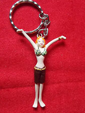 "ONE PIECE NAMI Keyring / 2.5"" 6.5cm SOLID PVC FIGURE / UK DESPATCH"