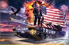 "Donald Trump New American President Winner Tank silk art Poster Print 24""X36"""