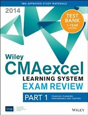 Wiley CMAexcel Learning System Exam Review 2014 + Test Bank Part 1, Financial Pl