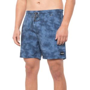 "Hurley Shorts Mens Size XL Blue Paradise Volley Swim Trunks - 17"" Shorts New"