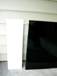 NEW 2 Kitchenaid Dishwasher Front Panels (Whirlpool #4171592) Black/White