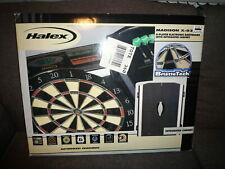 HALEX 8-Player Electronic Dartboard with Integrated Cabinet ~ Madison X-03 ~ NEW