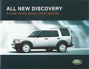Land Rover Discovery UK Market Brochure 2004 Incl TDV6 Manual & Auto V8 Petrol