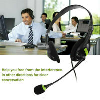 USB Headset with Microphone Noise Cancelling For Computer PC Headset Lightweight