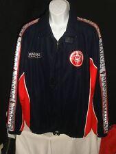 CLUB DE FUTBOL PUENTE 100% NYLON BLUE/RED/WHITE SOCCER MARVAL JACKET SZ XL