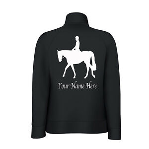 Personalised Horse Equestrian Ladys-Fit  Sweat Jacket with your Name