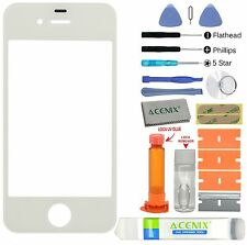 ACENIX® Apple iPhone 4 4s White Outer Front Glass Screen Replacement Repair Kit