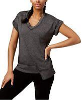 Calvin Klein asymmetrical women's t-shirt top - Black - MEDIUM