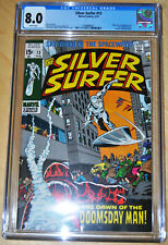 Silver Surfer #13 CGC 8.0 (1st App & Origin Doomsday Man) (WHITE PAGES) CLASSIC!
