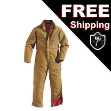 Carhartt X01 28 Waist 34 Chest Duck Coverall Quilt Lined Brwn Winter Work Overal