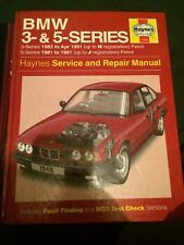 HAYNES WORKSHOP MANUAL 1948 , BMW 3- SERIES UP TO H REG , 5 SERIES UP TO J REG.