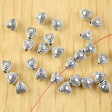 50pcs Tibetan silver heart spacer beads h2695