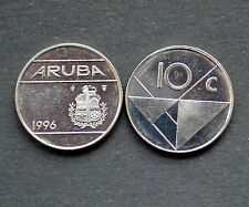 ARUBA ---10C TEN CENTS 1996 KM2 EF COIN CURRENCY