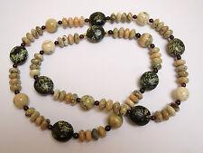 Unbehandelte Echte Edelstein-Halsketten & -Anhänger aus Sterlingsilber mit Opal