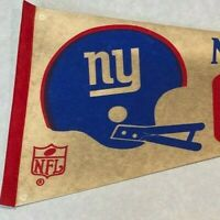New York Giants Vintage 1970's NFL Football Felt Pennant Helmet Full Size
