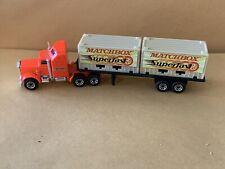 "Matchbox Convoy Kenworth Aerodyne Double Container - ""Matchbox Superfast"" Code 3"