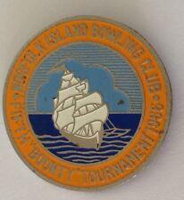 Norfolk Island 1966 Fifth Bounty Bowling Club Tournament Badge Rare Vintage (M7)
