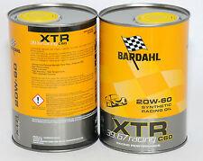 BARDAHL Olio auto XTR C60 RACING 39.67 20W60 1lt formula PolarPlus Fullerene