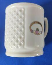 Donegal Irish Parian China Claddagh Mug #9061