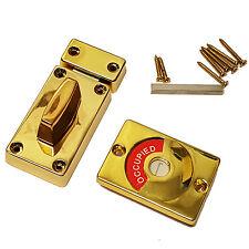 Washroom Bathroom Toilet Door Indicator Bolt Vacant Engaged Polished Brass Lock