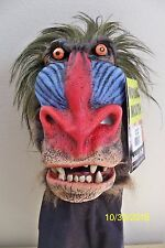 ZAGONES BABOON LATEX FULL MASK WITH HAIR COSTUME 7005BS
