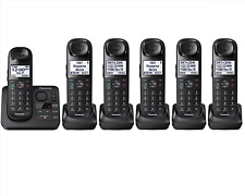 Panasonic KX-TG3686B Black Expandable Digital Cordless Phone with 6 Handsets