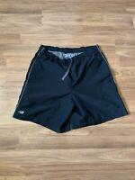 New Balance Black Drawstring Compression Running Jogging Shorts Size Medium
